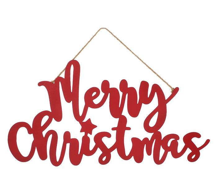 MERRY CHRISTMAS TIN WALL HANGING