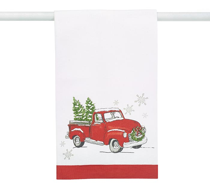 CHRISTMAS TRUCK TEA TOWEL