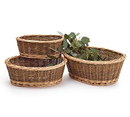 WILLOW BASKET NESTED SET OF 3