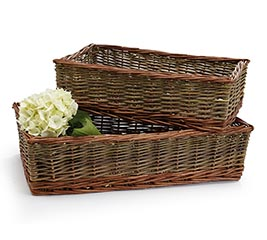 WILLOW BASKET RECTANGLE NESTED SET OF 3