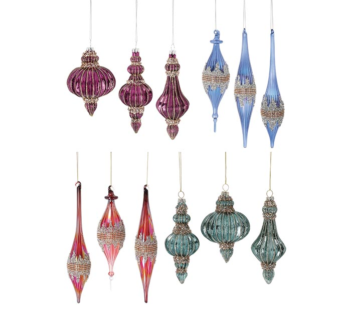 ASSORTED GLASS ORNAMENTS