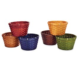 "8"" POT COVER FALL COLORS BAMBOO"