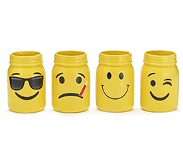 EMOJI FACE ASSORTED DESIGNS VASE