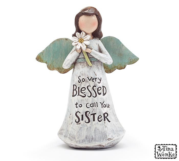 BLESSED SISTER MESSAGE ANGEL FIGURINE