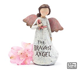 BRAVEST ANGEL MESSAGE FIGURINE