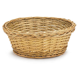 "BASKET WILLOW 18"" ROUND LIGHT STAIN"