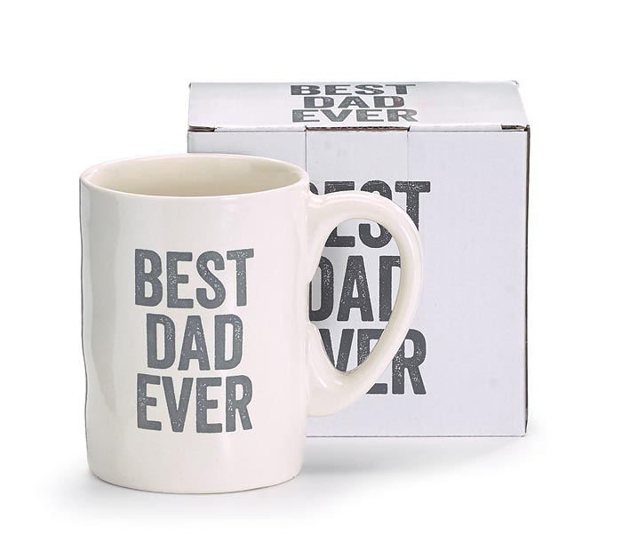BEST DAD EVER MESSAGE MUG