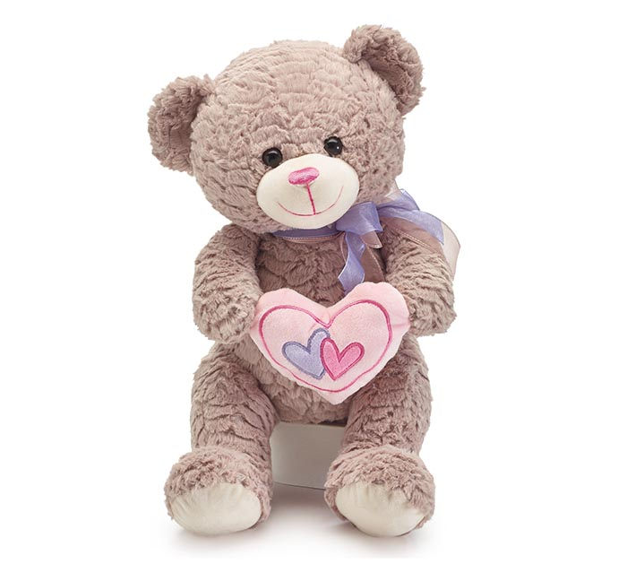 SWEET VALENTINE BEAR HOLDING A HEART