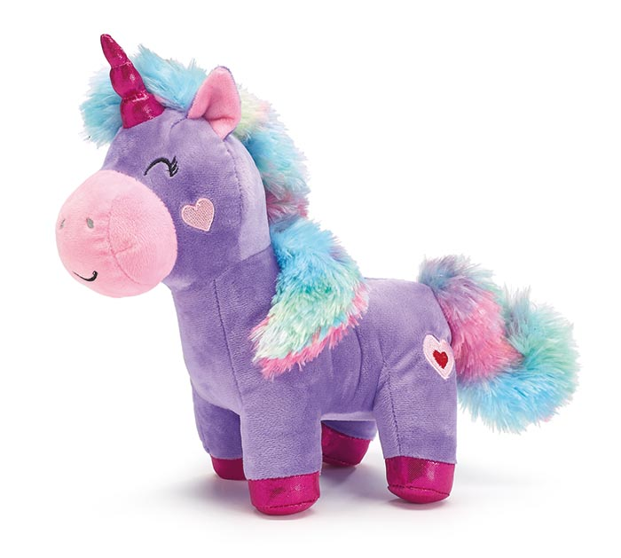 LAVENDER UNICORN WITH RAINBOW FUR TAIL