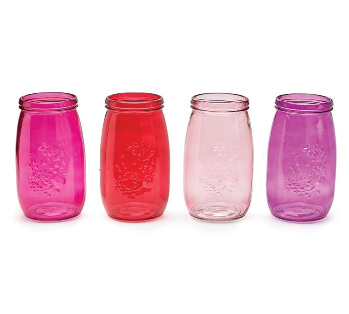 CANDLEHOLDER/VASE GLASS JAR VALENTINE
