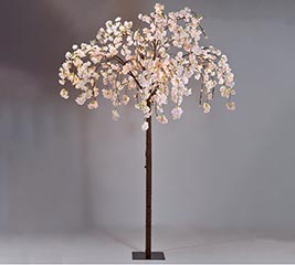 "82"" WEEPING CHERRY BLOSSOM TREE W/LIGHTS"