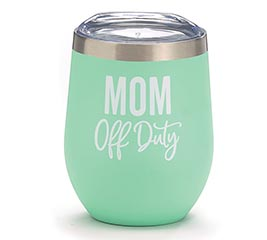 STAINLESS WINE TUMBLER MOM OFF DUTY