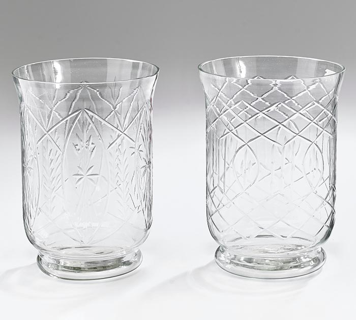 """8"""" ASTD CLEAR GLASS VASE WITH DESIGN"""
