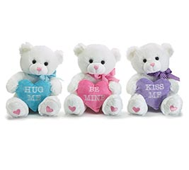 ASSORTED MESSAGE VALENTINE BEARS