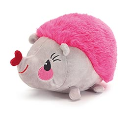 PLUSH VALENTINE PINK AND GRAY HEDGEHOG