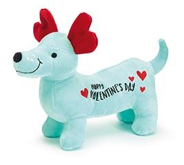 HAPPY VALENTINE BLUE WEINER DOG