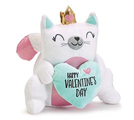 PRINCESS VALENTINE KITTY CAT WITH HEART