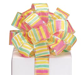 RIBBON #9 SPRING STRIPES