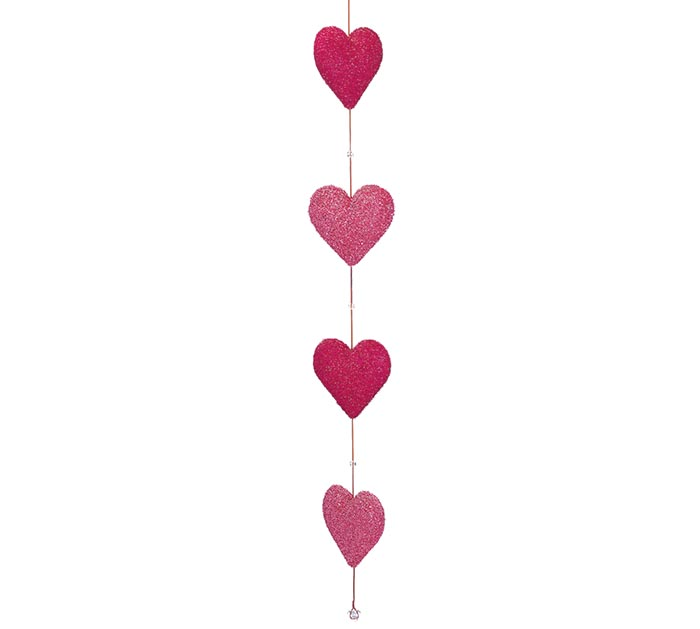 ASTD COLOR PINK AND BERRY HEART GARLAND