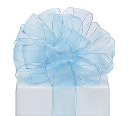 #9 RIBBON SHEER SKY BLUE WITH WIRED EDGE