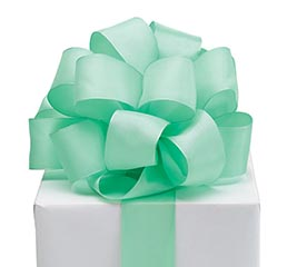 RIBBON #9 MINT GREEN TAFFETA
