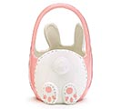 CERAMIC BUNNY BASKET SHAPE CANDY DISH 1st Alternate Image