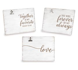 WOOD BURN MESSAGE FRAME ASSORTMENT
