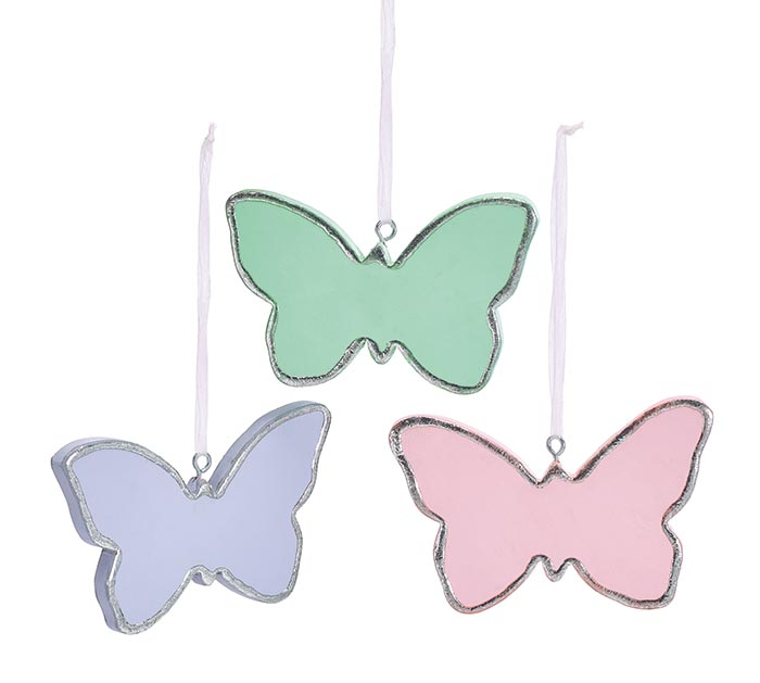 ASTD SET OF WOODEN BUTTERFLY ORNAMENTS