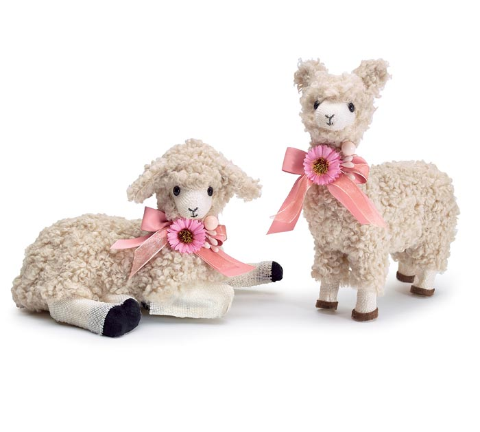 DECORATIVE FURRY LAMBS STANDING  LYING