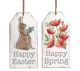 HAPPY EASTER TAG WALL HANGING WITH BUNNY