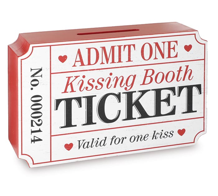 KISSING BOOTH TICKET HOLDER