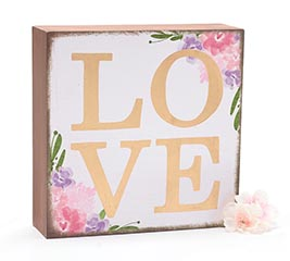 FLORAL LOVE SHELF SITTER