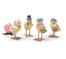 YELLOW CHICK ASSORTED FAMILY FIGURINE