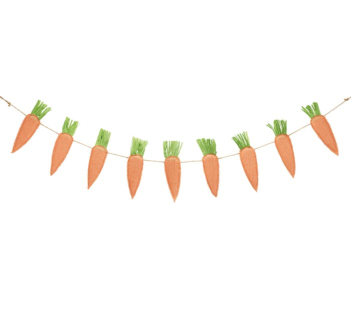 HANGING CARROTS ON JUTE ROPE