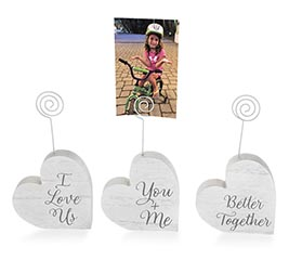VALENTINE HEART SHAPE PHOTO HOLDER ASTD