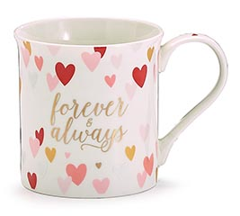 FOREVER  ALWAYS HEART MUG