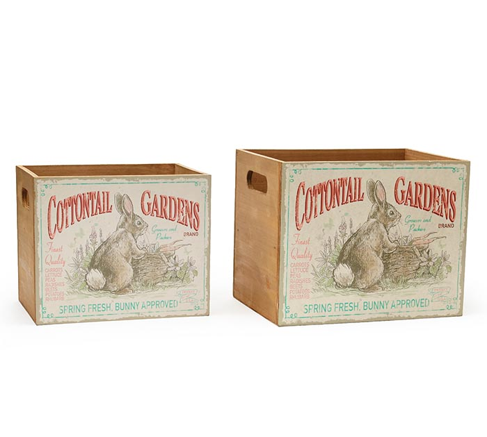 COTTONTAIL GARDENS NESTED WOOD PLANTERS