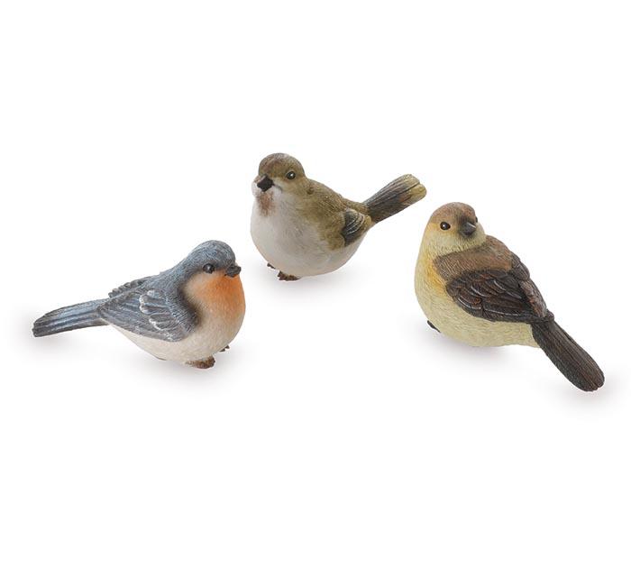 RESIN BIRD ASSORTED FIGURINE