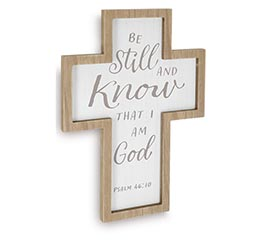 BE STILL  KNOW CROSS WALL HANGING