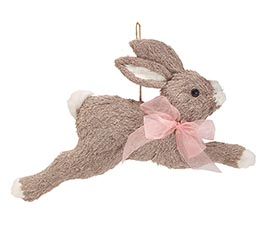 HANGING RUNNING GRAY BUNNY