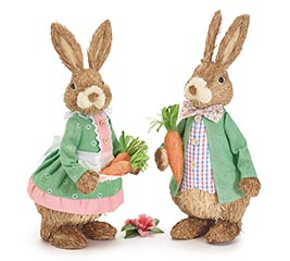 SPRING EASTER BUNNY COUPLE