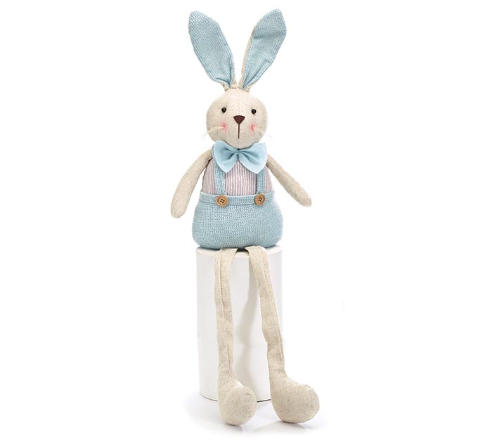 DECORATIVE SITTING BUNNY WITH LONG LEGS