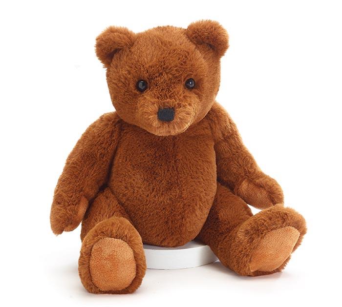 "10"" SOFT BROWN BEAR PLUSH WITH FAT TUMMY"