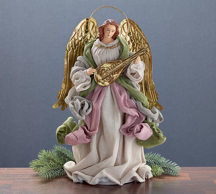 """14"""" ANGEL DECOR OR TREE TOPPER"""
