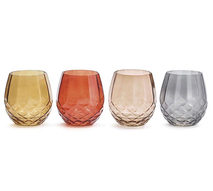 FALL DIAMOND PATTERN GLASS VASES