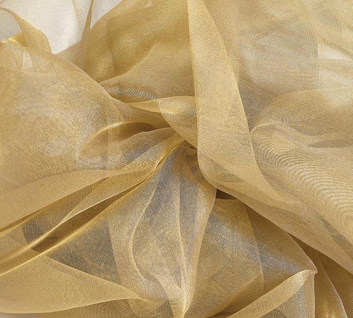 Gold Lame Organza Fabric 10 Yards