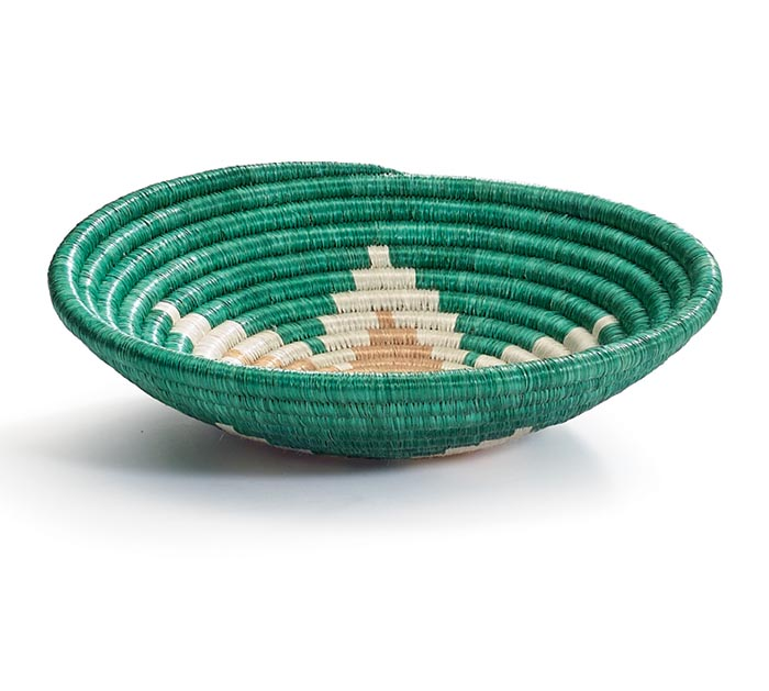 "RWANDA WEAVING HOPE 7"" STARBURST BASKET"