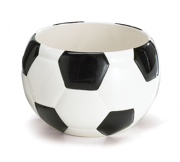 MINI SOCCER BALL CERAMIC PLANTER/BOWL