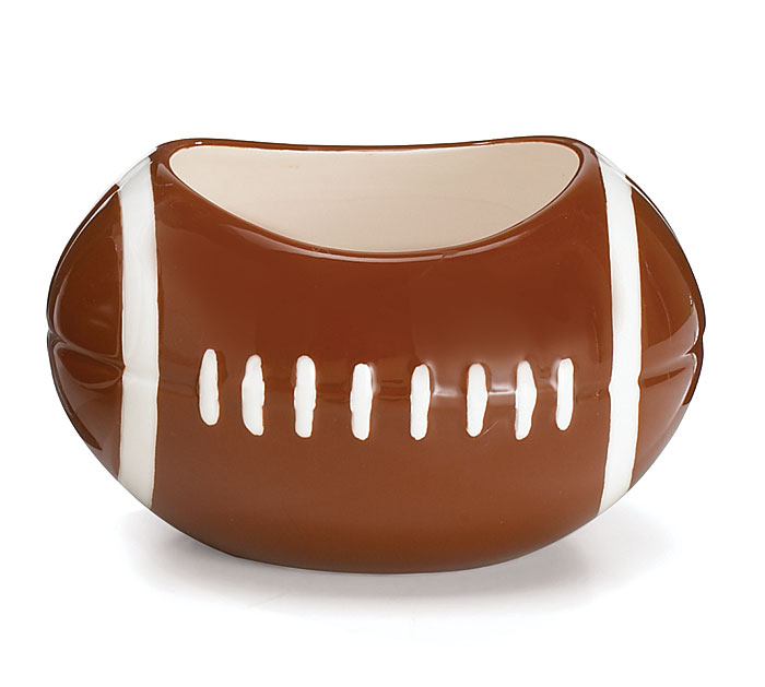 SMALL FOOTBALL CERAMIC PLANTER/BOWL