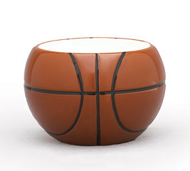 SMALL BASKETBALL CERAMIC PLANTER/BOWL